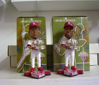 Yadier Molina Albert Pujols Cardinals World Series Bobble Bobbleheads