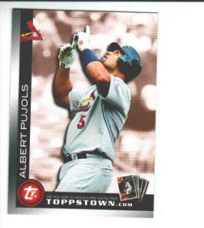 2010 topps toppstown gold 14 albert pujols cardinals