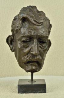 Bronze Modern Contemporary Metal Art Albert Einstein Sculpture Science