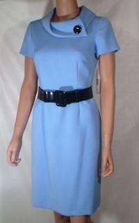 Alex Marie Dress Blue Size 12 Button Collar Lined