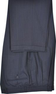 42R Albert Nipon Dark Blue Pinstripe Two Button Wool Suit
