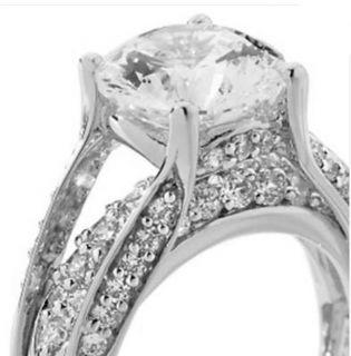 Victoria Wieck 3 86 Ct Absolute 16 Arrows Bridge Silver Ring Size 10 $