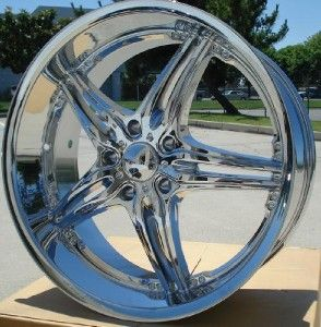 22 inch Akuza Chrome Wheels Rims 5x150 Toyota Tundra Sequoia Lexus LX