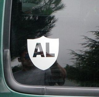 Al Davis Rip Oakland Raiders White Vinyl 4 Tall Window Decal Sticker