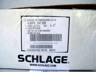 Schlage AL80PD High Security Storeroom Lock KABA Gemini Dimple Key SAT
