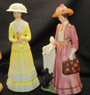 MRS ALBEE 1981 1982 1983 FIGURINE x3 AVON LADIES
