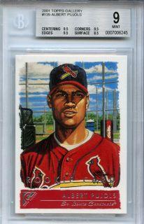 2001 Topps Gallery #135 ALBERT PUJOLS cardinals RC BGS MINT 9