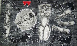 Luis Miguel Valdes 128 Cuban Art Original Print Signed
