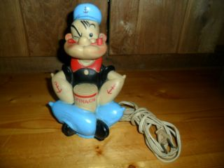 Wonderful Popeye Figure Night Light King Features 1959 by Alan Jay