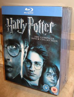 Harry Potter The Complete 8 Film Collection Blu Ray Box Set 11 Discs