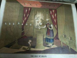 Antique Family Holy Bible Leather Unmarked Apocrypha Illuminated 1884