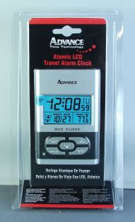 Advance Time 6052AT Atomic LCD Travel Alarm Clock New