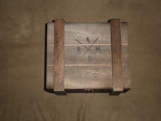 Alec Bradley Black Market Gordo Ammo Style Wooden Cigar Box