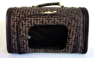 Pet Luggage Carrier Dog Cat Travel Design Bag Purse Case Brown