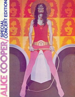 Alice Cooper 1973 Billion $ Dollar Babies Tour Concert Program Book