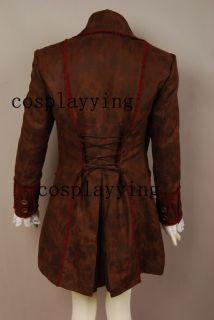 Johnny Depp Mad Hatter Alice Wonderland Jacket Costume