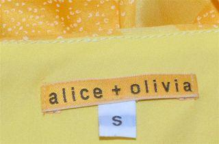 Alice Olivia Mena Long Silk Halter Dress Size Small