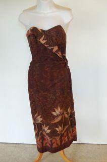 Vintage S M Alfred Shaheen Hawaiian Honolulu Strapless Dress Cotton