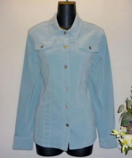 ALFRED DUNNER Womens Soft Blue Shirt Blouse Top Long Sleeves Size 10