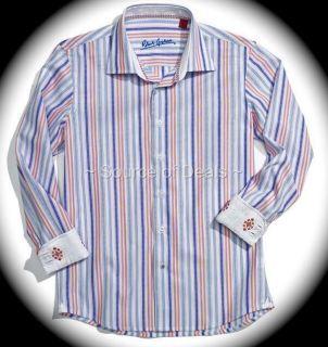 Robert Graham Dallan R C L XL 17 Multi Color Stripe Jacquard Dress
