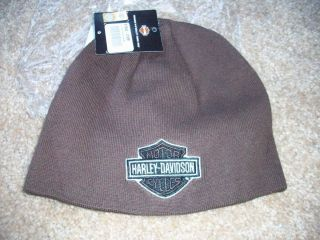New Harley Davidson Bar Shield Reversible Knit Hat