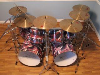 Alex Van Halen Ludwig Drum Set Paiste Cymbals