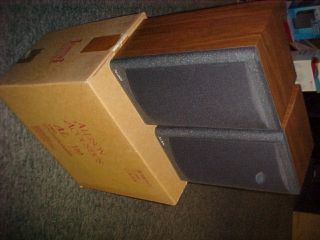 Allison AL110 Bookshelf Speakers Vintage Brand New