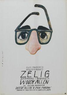 Zelig Movie Poster 27x40 Polish Woody Allen MIA Farrow Susan Sontag