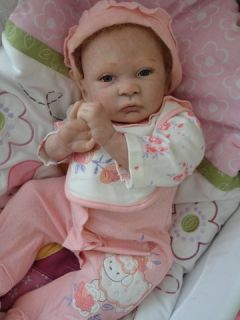 OOAK Reborn baby girl with 3d skin Allison art doll newborn