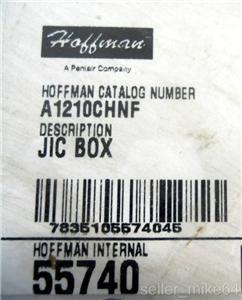 Hoffman A1210CHNF Hinged Cover Junction Box 14 Gauge NEMA 4 12 13 NNB