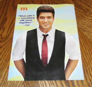BIG TIME RUSH Logan Henderson Vest Tie PINUP 8X10 Cute Actor Singer TV