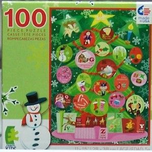 Ceaco Kids Holiday Magic Jigsaw Puzzle Alphabet Christmas Tree 100 Pcs
