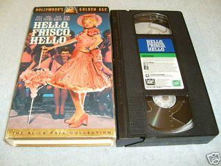 Hello Frisco Hello VHS 1943 Alice Faye 086162139031