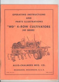 TM 64D ALLIS CHALMERS WD 4 ROW CULTIVATORS 40 SERIES EXPLODED VIEWS