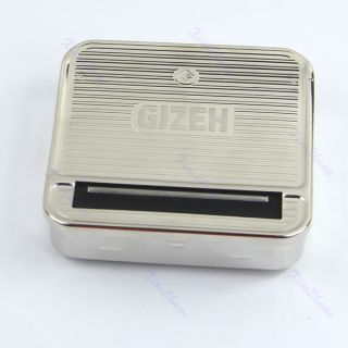 New Metal Cigarette Tobacco Roll Roller Rolling Machine Box Case Cover