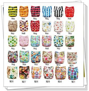 Sweet New 1 alva Reusable Baby Washable Cloth Diaper Nappy +1INSERT