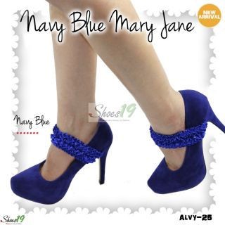 alvy 25 sexy ruffly mary jane ankle strap almond toe front smooth