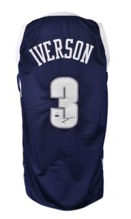 Allen Iverson Autographed Jersey Georgetown Hoyas Witness JSA