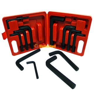 12 PC Jumbo Hex Key Allen Wrench Driver Tool Set Metric and SAE Sizes
