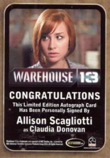 Season 3 Autograph Allison Scagliotti as Claudia Donovan Plus
