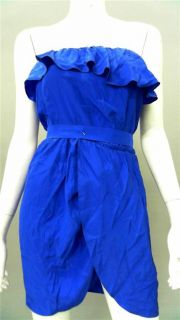 Amanda AU Uprichard Womens Misses Stretch High Waist Dress Sz s Cobalt