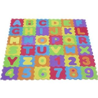 KIDS ALPHABET NUMBERS LETTER PLAYMAT PUZZLE SOFT FOAM JIGSAW PLAY MAT