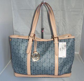 Michael Kors Amagansett Monogram Large PVC Coated Tote Handbag $198 00