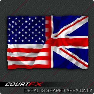 American Union Jack Flag Sticker Great Britain Decal