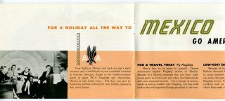 1954 American Airlines to Mexico Travel Brochure DC 6