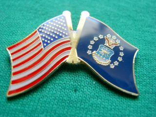 Air Force American Flag USAF Military Shirt Lapel Pin