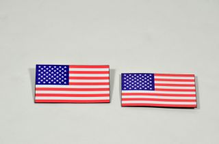 Tosh 0 2 Large American Flag Lapel Pins