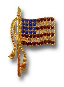 american flag pin patriot usa rhinestone lapel brooch