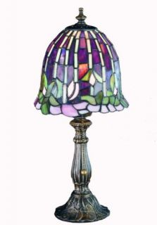 Flowering Lotus Tiffany Style Stained Glass Table Lamp