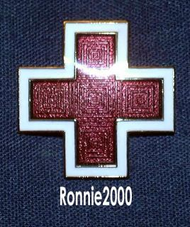 LARGE ENAMEL CROSS American Red Cross pin Hurricane Sandy Relief Show